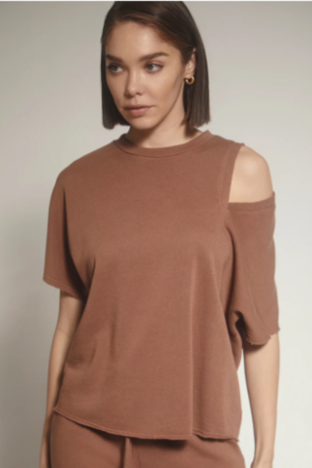lanston sport One shoulder cut out Tee - Main Image