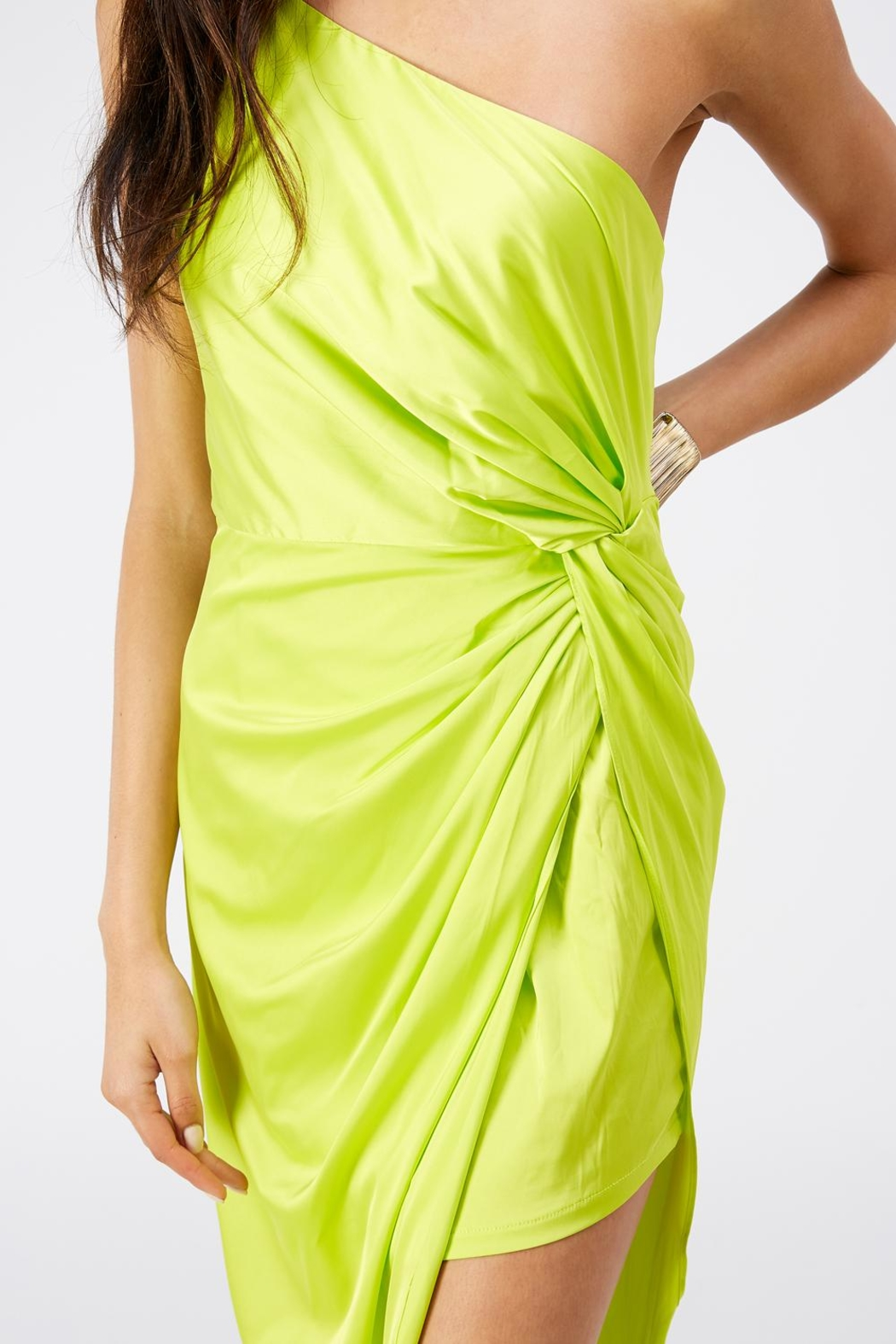 luxxel One Shoulder Dress - Back Cropped Image