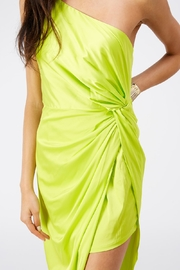 luxxel One Shoulder Dress - Back cropped