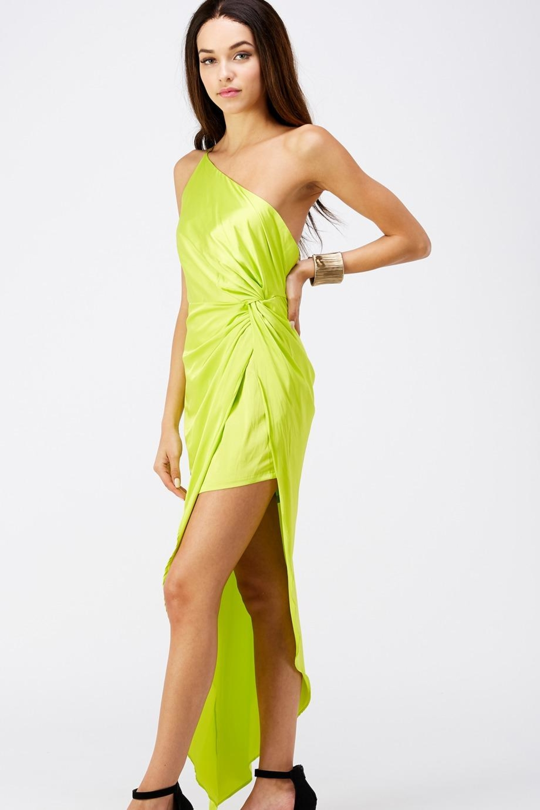 luxxel One Shoulder Dress - Front Full Image