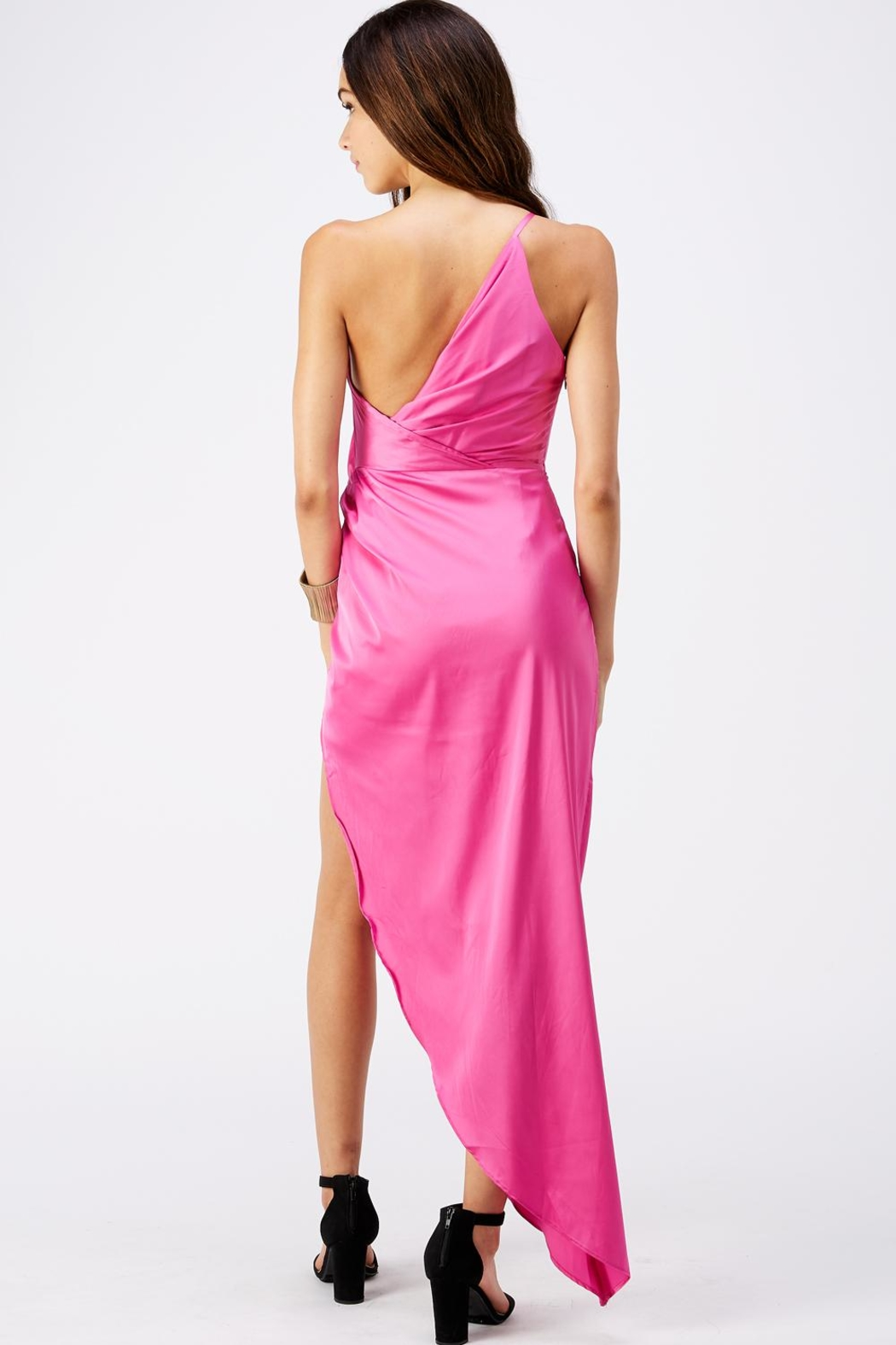 luxxel One Shoulder Dress - Side Cropped Image