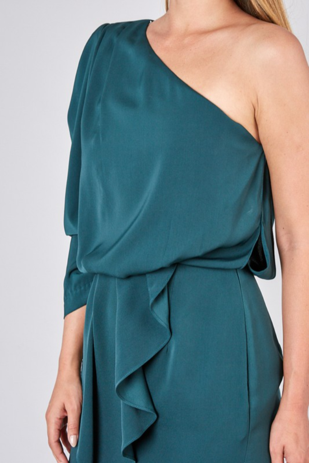 Do + Be  One Shoulder Dress - Back Cropped Image