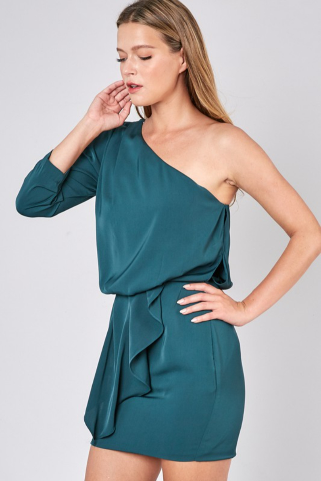 Do + Be  One Shoulder Dress - Front Full Image