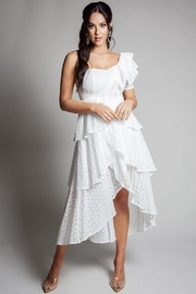 Latiste One-Shoulder Eyelet Dress - Product Mini Image