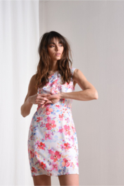 Molly Bracken One Shoulder Floral Mini - Product Mini Image