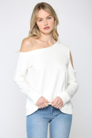 Fate Inc. One Shoulder French Terry Sweatshirt - Product Mini Image