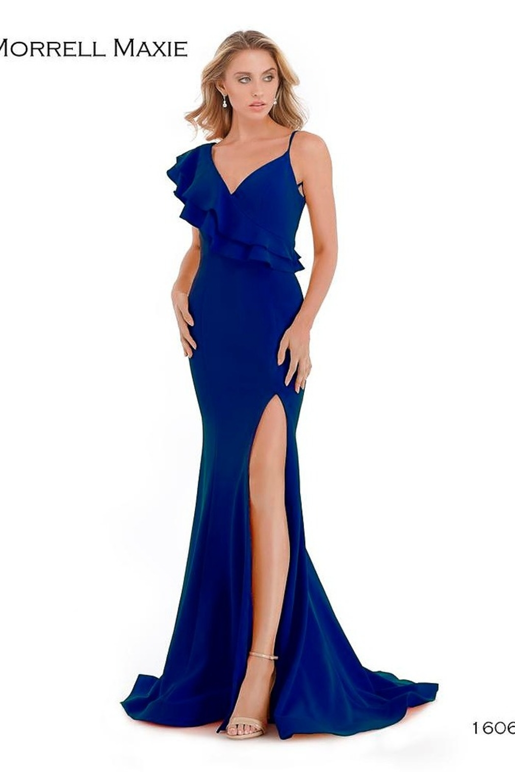Morrell Maxie One Shoulder Gown - Front Cropped Image