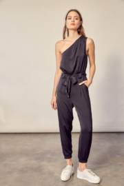 Mustard Seed  One Shoulder Jumpsuit - Product Mini Image