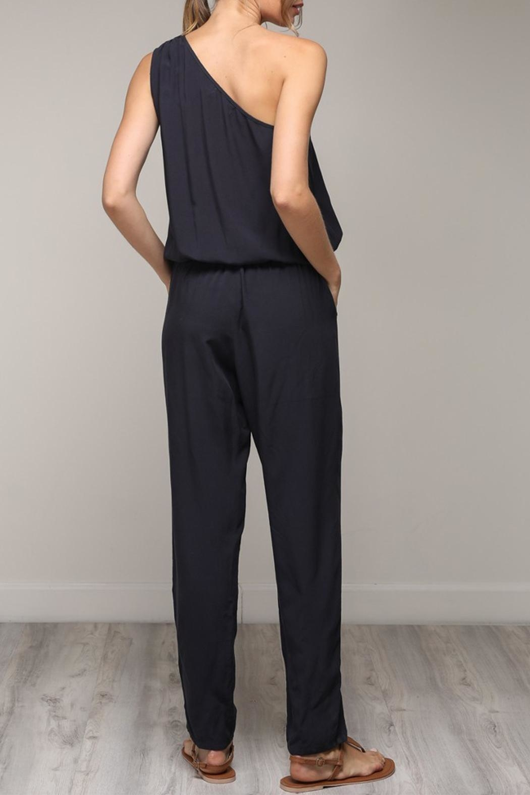 Mustard Seed One Shoulder Jumpsuit - Side Cropped Image
