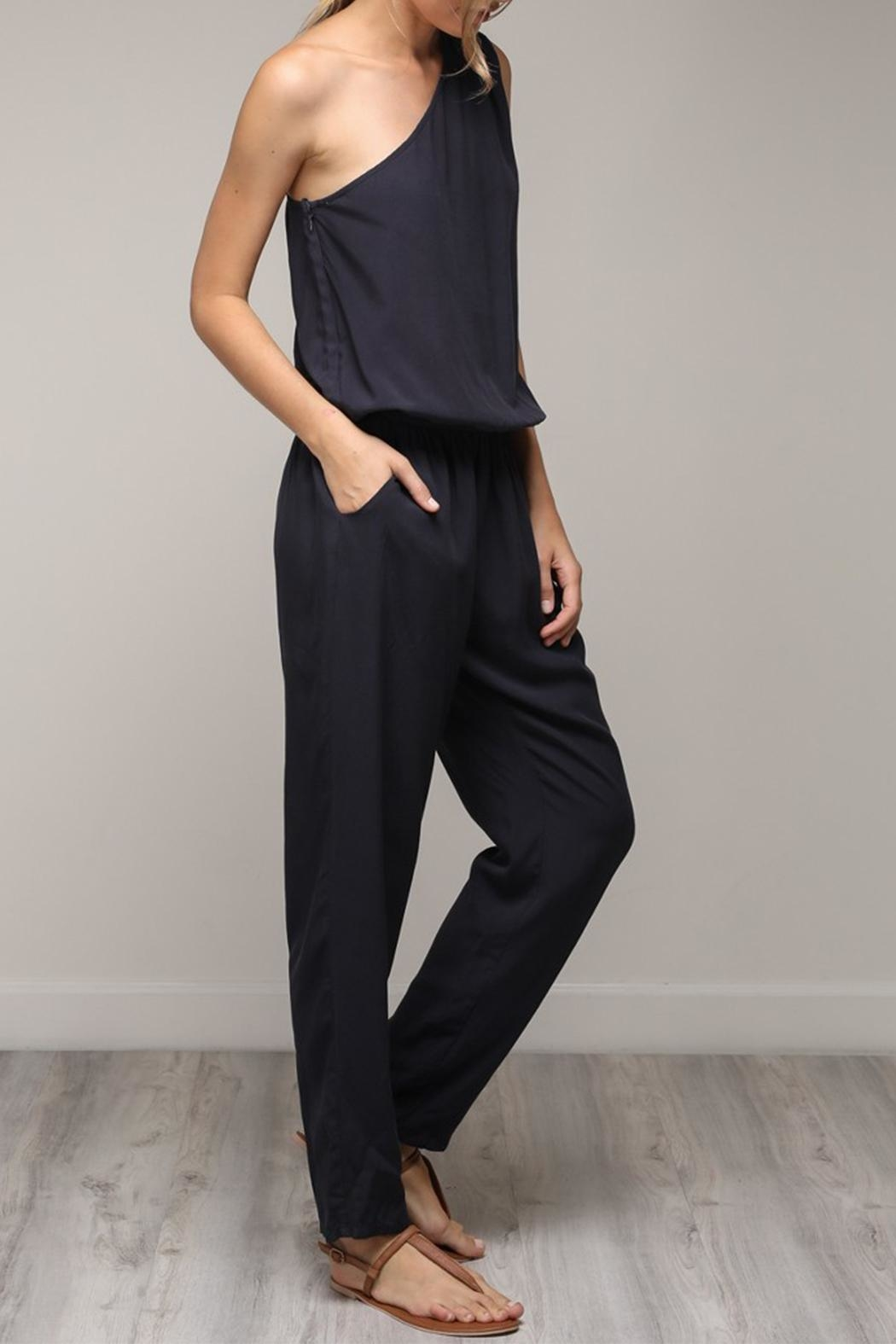 Mustard Seed One Shoulder Jumpsuit - Front Full Image