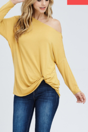 White Birch  One Shoulder Knot Top - Product Mini Image