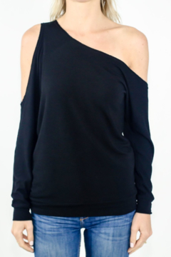 Shoptiques Product: One Shoulder Long Sleeve Top