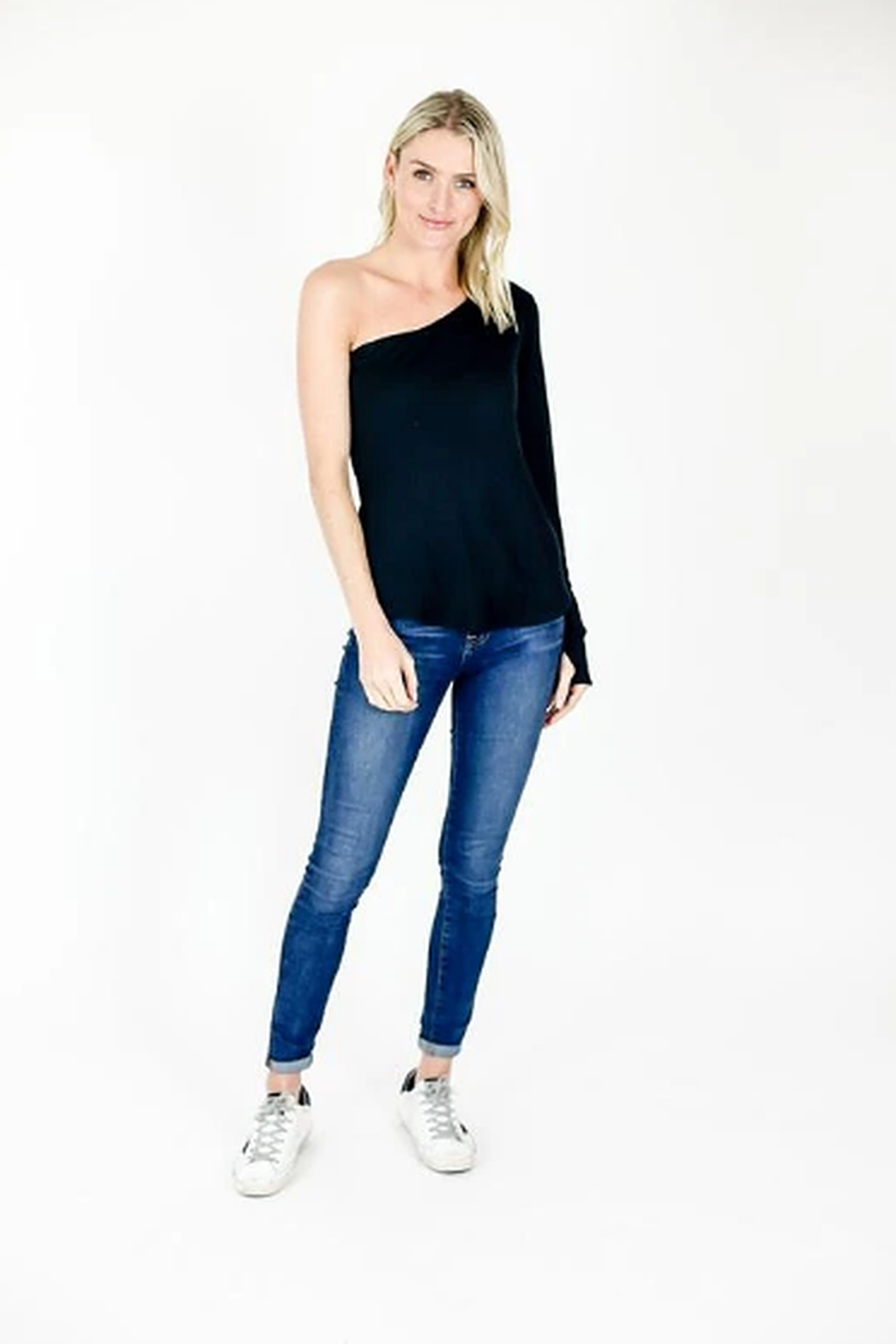 Six Fifty One shoulder longsleeve - Front Cropped Image