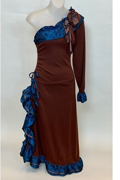 Shoptiques Product: ONE SHOULDER MAXI DRESS