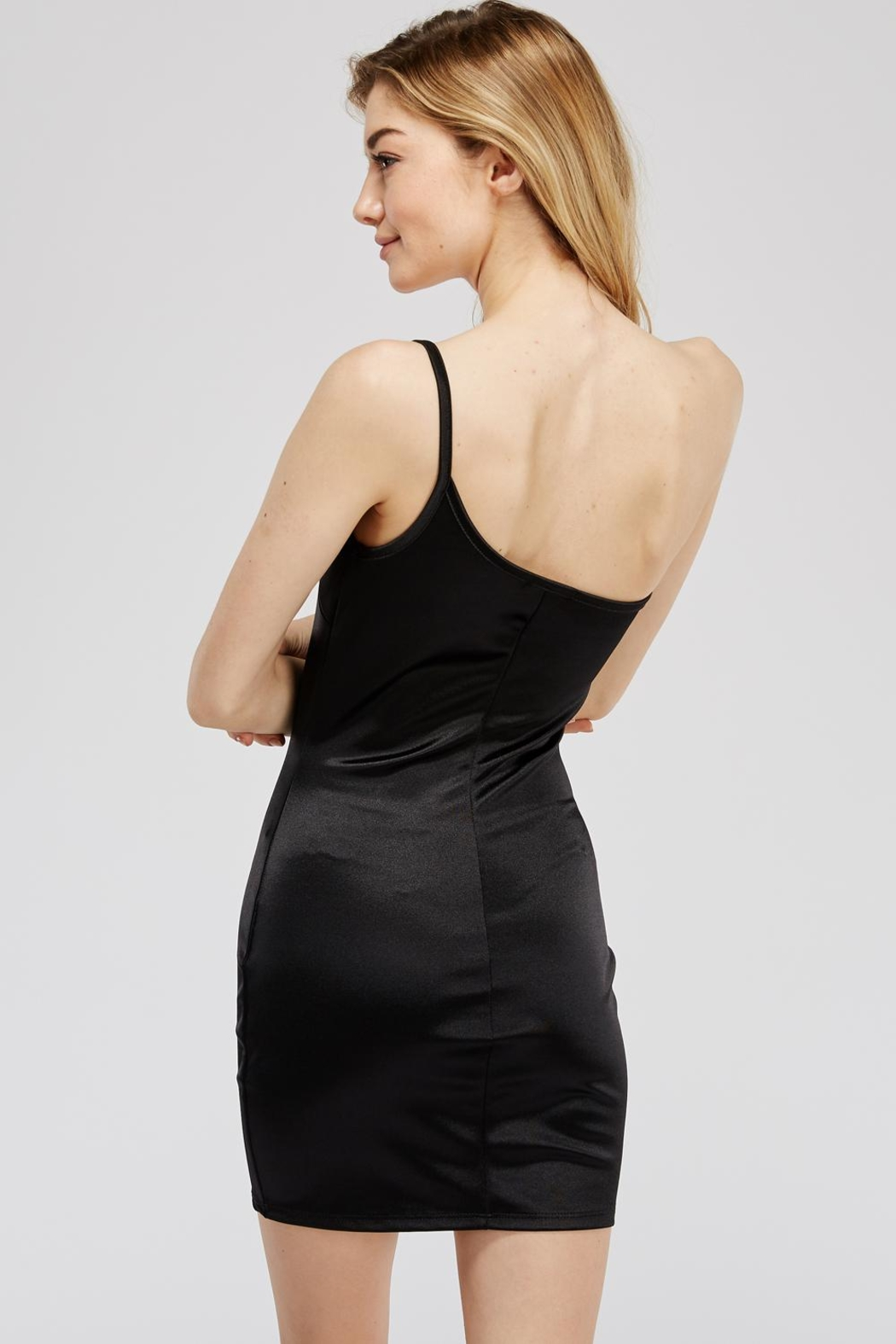 Better Be One-Shoulder Mini Dress - Side Cropped Image