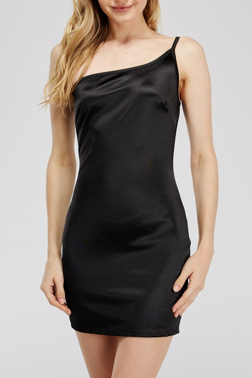 Better Be One-Shoulder Mini Dress - Back Cropped Image