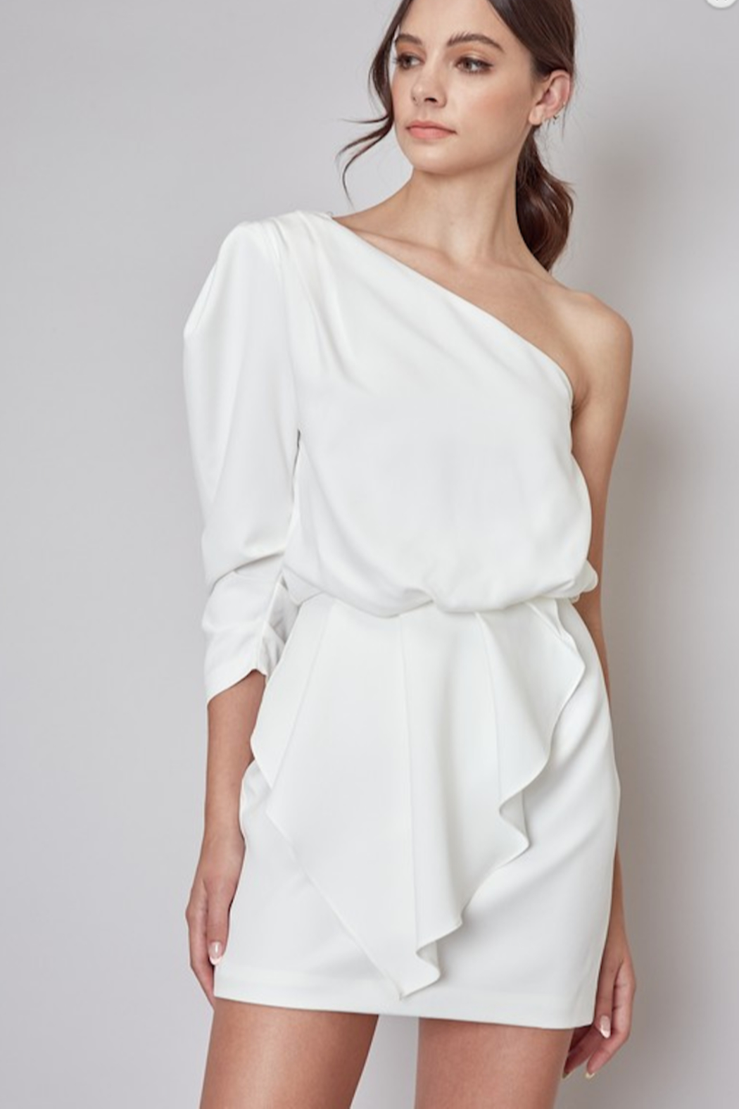Do & Be One Shoulder Mini Dress - Front Cropped Image