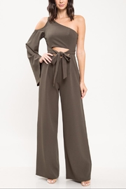 Latiste One-Shoulder Olive Jumpsuit - Product Mini Image