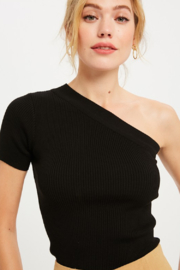 Wishlist One Shoulder Ribbed Knit Top - Product Mini Image