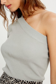 Wishlist One Shoulder Ribbed Knit Top - Front full body