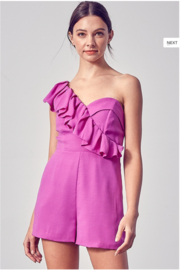Do + Be  One Shoulder Romper - Product Mini Image