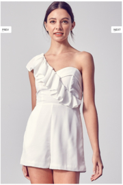 Do + Be  One Shoulder Romper - Front cropped