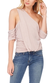 Anama One-Shoulder Ruched Blouse - Product Mini Image