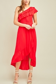 Lyn -Maree's One Shoulder Ruffle Dress - Product Mini Image