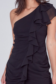 Do + Be  One Shoulder Ruffle Dress - Back cropped
