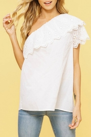 Listicle One-Shoulder Ruffle Top - Product Mini Image
