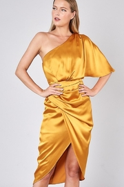 Do + Be  One Shoulder Satin Dress - Product Mini Image