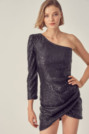 Do + Be  One Shoulder Sequin Dress - Front cropped