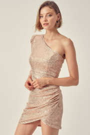 Do + Be  One Shoulder Sequin Dress - Product Mini Image