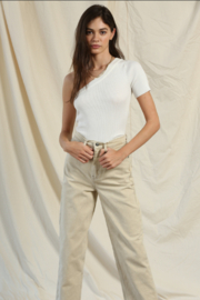 By Together  One Shoulder Short Sleeve Top - Front cropped