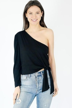 Six Fifty One Shoulder Side Tie Top - Product List Image