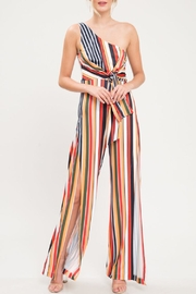 Latiste One-Shoulder Stripe Jumpsuit - Product Mini Image