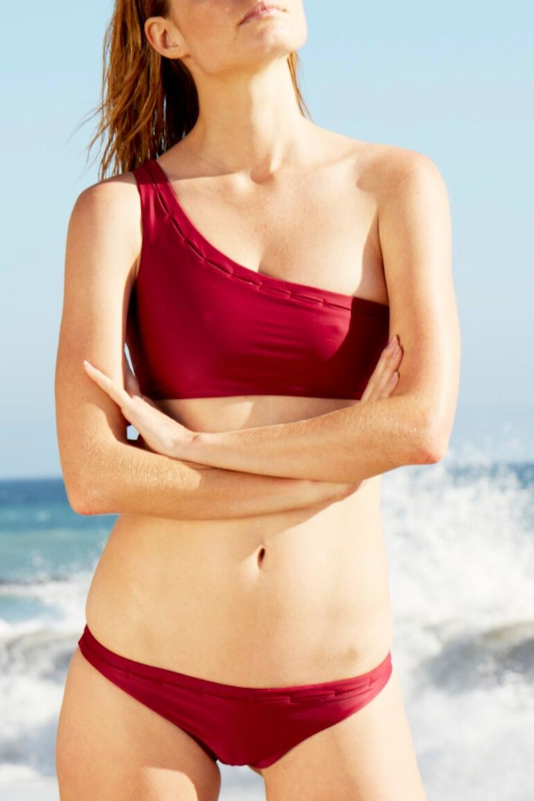 Cami and Jax One-Shoulder Swim Top - Side Cropped Image