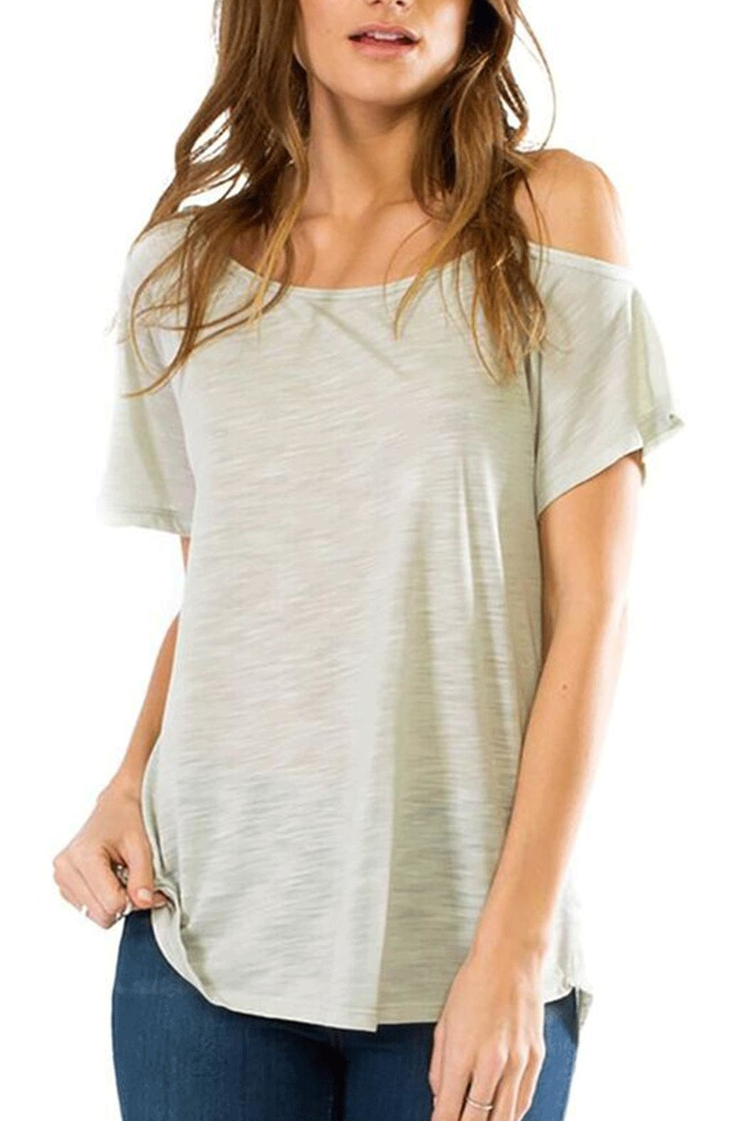 Anama One Shoulder Tee - Front Cropped Image