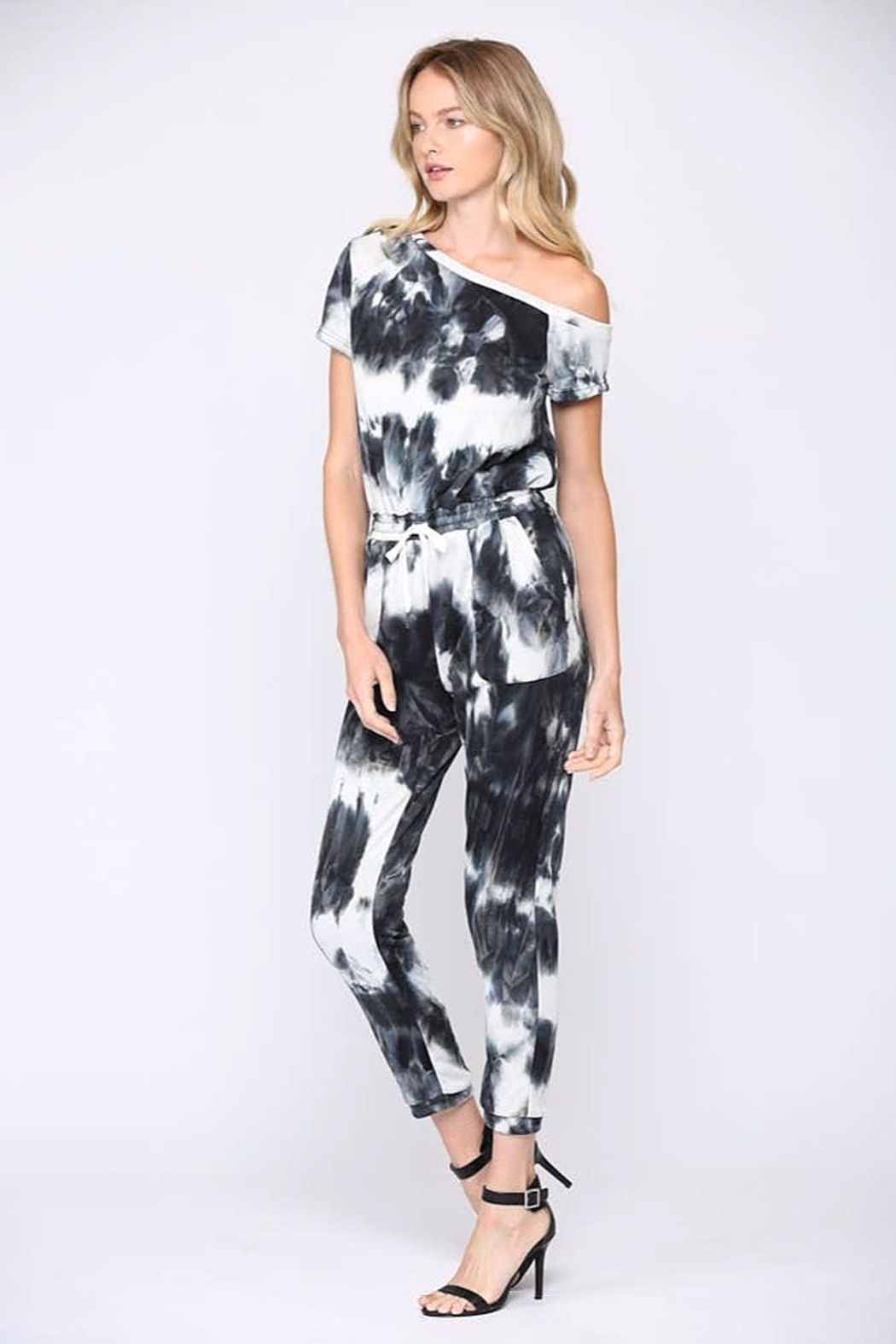 Fate  One-Shoulder Tie-Dye Jumpsuit - Front Full Image