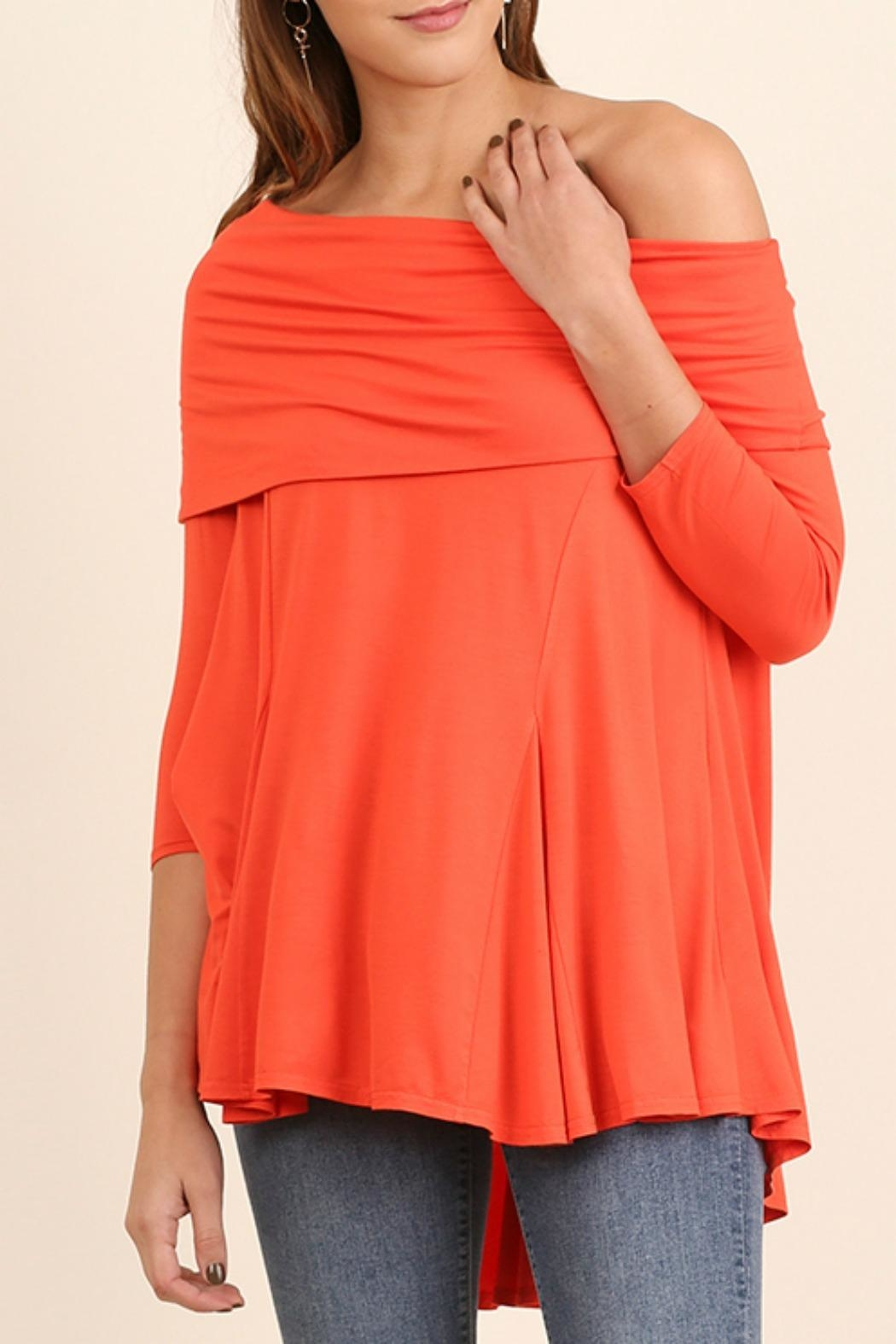 Umgee USA One Shoulder Top - Front Cropped Image