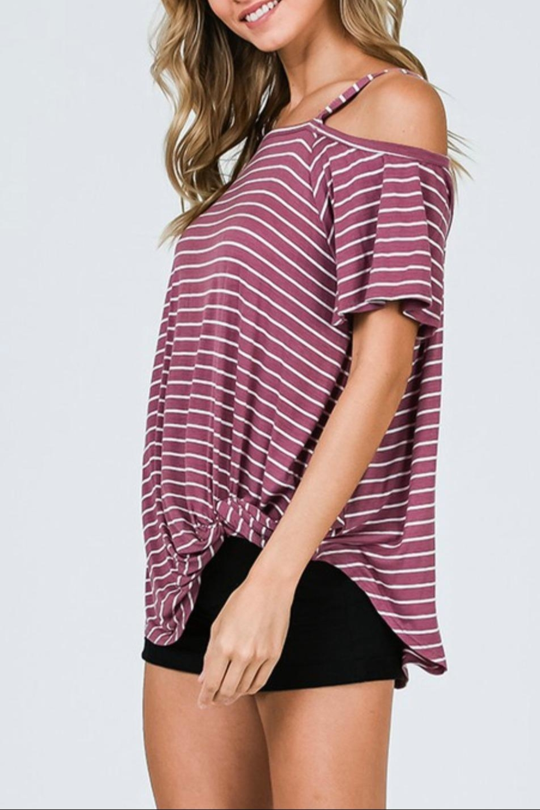 CY Fashion One Shoulder Top - Side Cropped Image