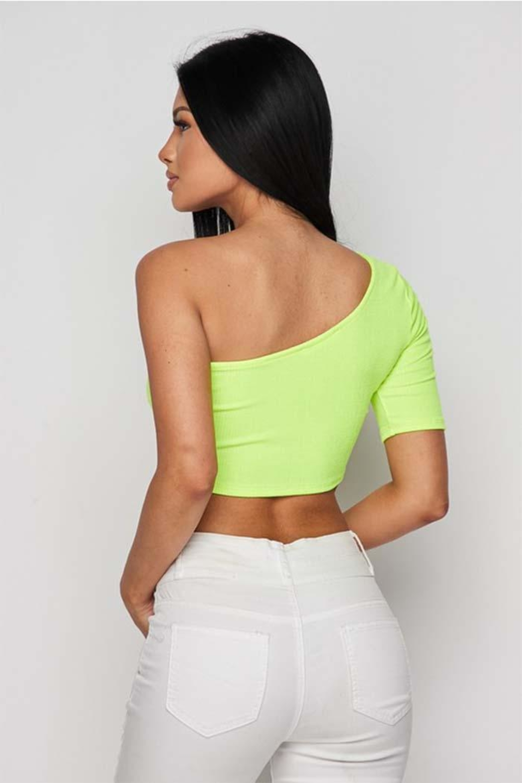 Hot & Delicious One Shoulder Top - Side Cropped Image