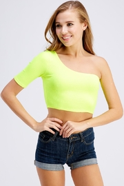 Hot & Delicious One Shoulder Top - Front cropped