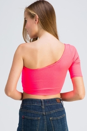 Hot & Delicious One Shoulder Top - Back cropped