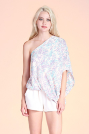 Tyche One Shoulder Top - Product Mini Image