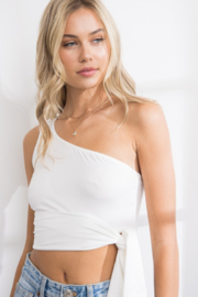 Papermoon One Shoulder Top - Product Mini Image