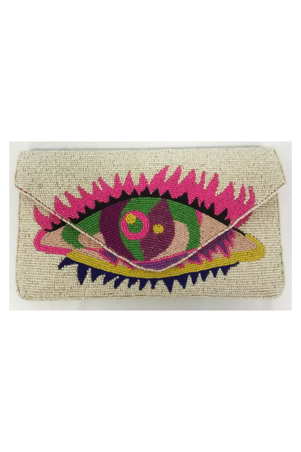 Ricki Designs One Sided Beaded Multi Color Clutch - Main Image