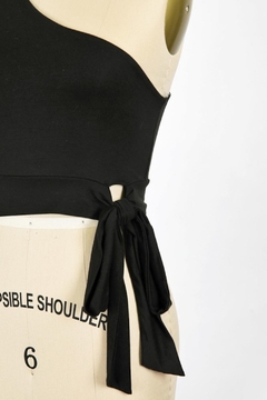 Final Touch One Sleeve Side Tie Top - Alternate List Image