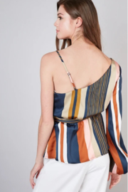 Do & Be One sleeve stripe top - Front full body