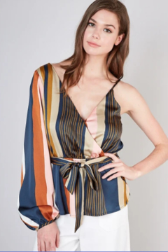 Do & Be One sleeve stripe top - Product List Image